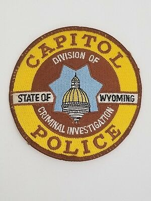 Old Wyoming Capitol Police Patch vintage Division of Criminal Investigation Rare