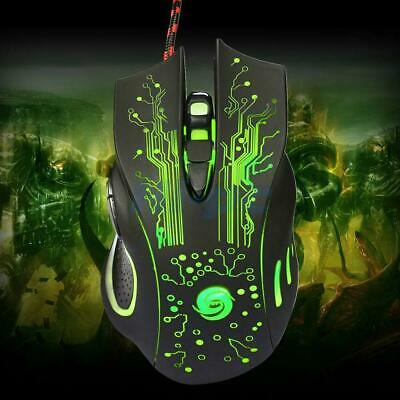 6Button 5500DPI LED Optical USB Wired Gaming Mouse Mice for Desktop PC Laptop