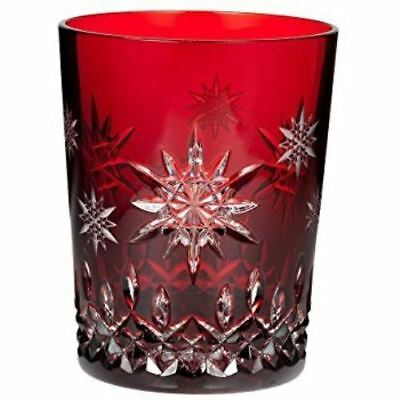 Waterford SNOWFLAKE WISHES Ruby Red Double Old Fashioned DOF 2011 JOY NIB