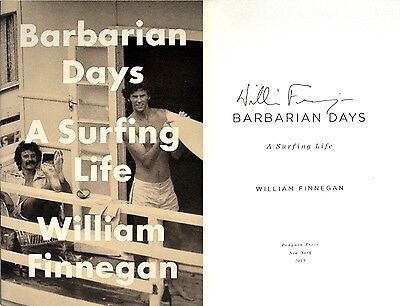 William Finnegan~SIGNED IN PERSON~Barbarian Days ~ Rare 1st Edition + Photos!!