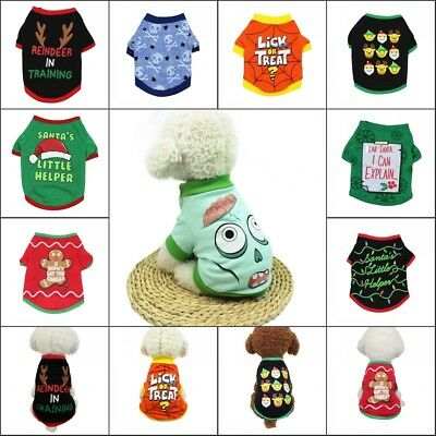 Pet Dog Christmas Santa Sweater Clothes Shirt Puppy Cat Pullover Hoodies Costume