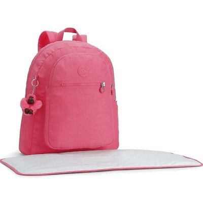 BNWT Kipling Bizzy Boo Baby Backpack / Diaper Bag Changing Mat - City Pink