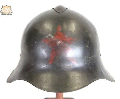 RARE Original Early Russian SSH-36 Helmet with Red Star and Early Liner Type