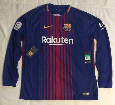 65af886a0 NWT  125 2017 18 Nike FC Barcelona Home Stadium Long Sleeve Jersey XL 847252  456