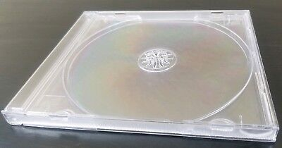 Standard clear cd jewel cases Replacement Regular Size x1