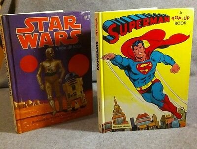 Vintage Popup books SuperMan and Star Wars