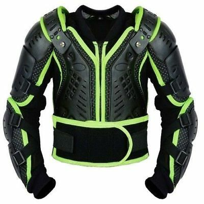 Kids Adult Scorpion Spine Guard Ce Body Armour Motorbike Protection Jacket Green