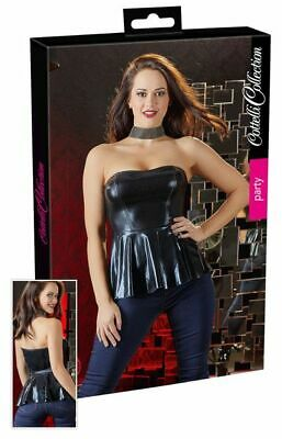 Cottelli Collection Party Wetlook-Top Lingerie Dessous Reizwäsche schwarz S