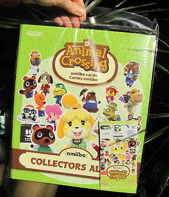 Animal Crossing Collectors Album Serie 1 + Amiibo Karten Päckchen NEU!
