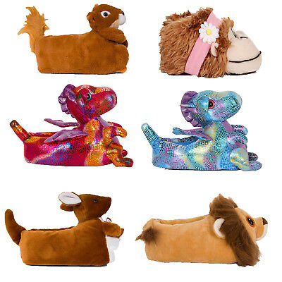 Loungeable Womens 3D Wild Animal Slippers Ladies Girls Plush Novelty Bootie Shoe