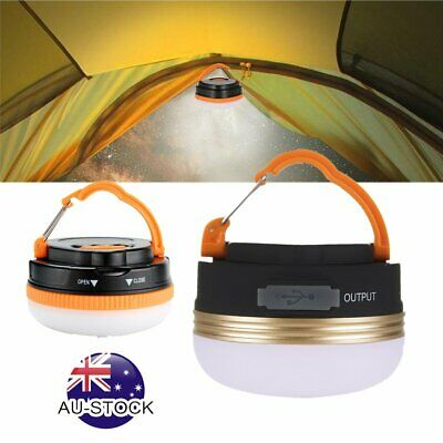 LED Hiking Camping Tent Lantern Light USB Lamp Outdoor Rechargeable 180LM/300LM