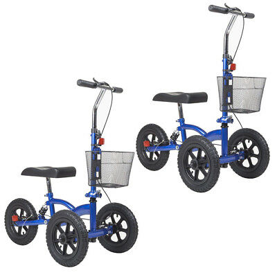 2018 Knee Walker Steerable Knee Scooter Foldable Medical Brake System Basket US
