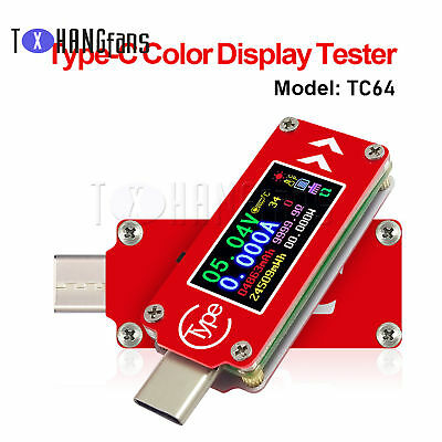TC64 Color LCD PD Type-C USB Tester Voltage Current Capacity Meter ATF