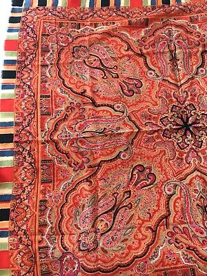 Russian Antique Paisley Shawl Early 20thC