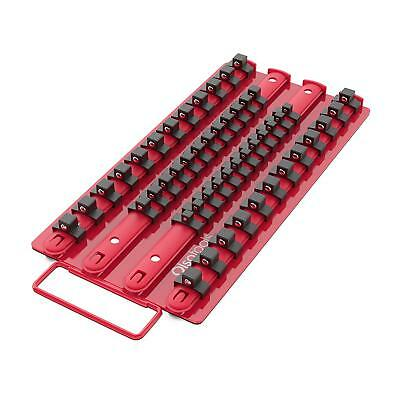 #1 Magnetic Socket Rail 1//4 Drive Swivel Clips Olsa Tools Made with Rare Neodymium Magnet Red Aluminum Black Clips