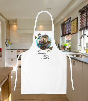Personalised Strictly Come Dancing Theme Cooking Apron Birthday Christmas Gift