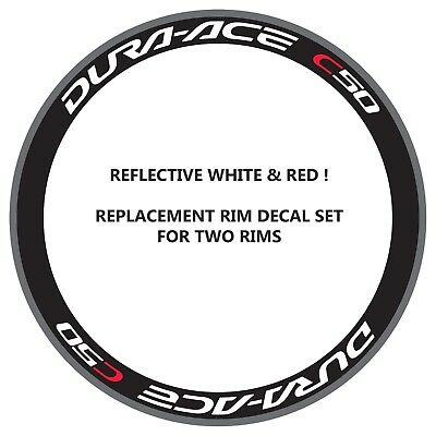 CAMPAGNOLO 80th ANNIVERSARY GLOSSY BLACK REPLACEMENT RIM DECAL SET  FOR  2 RIMS