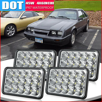 "LED 4pcs DOT Approved 4''x6"" Headlights For Chevrolet Kenworth H4651 H4652 H4666"