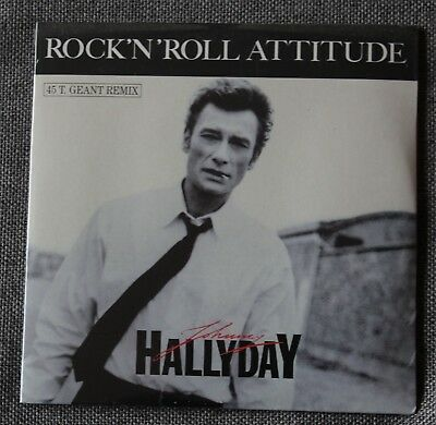 Johnny Hallyday, rock'n'roll attitude (remix) , CD single - version maxi 45t