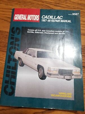 Cadillac deville, eldorado, fleetwood, seville repair manual 1967-1989.