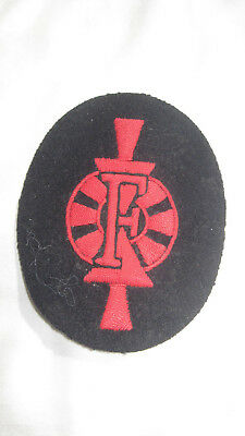 """WWII KRIEGSMARINE Patch WEAPONS CONTROL FOREMAN SPECIALTY AA   """"F""""  Embroidered"""