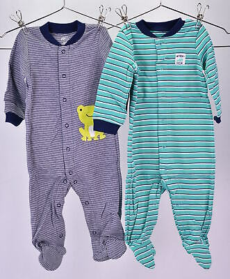 9a809dc35903 LOT OF 2 - Simple Joys by Carter s Footed Sleep   Play Pajamas 6-9M ...
