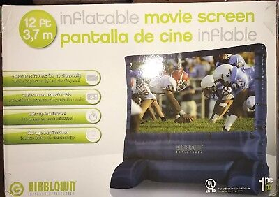 """Gemmy 39127-32 Deluxe Airblown Movie Screen Inflatable with Storage Bag, 144""""..."""