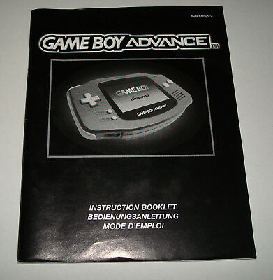 Nintendo Game Boy Advance Manual