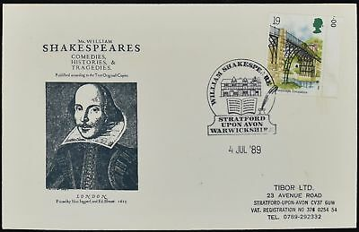 GB FDC 1989, Industrial Archaeology, William Shakespeare Cover #C50713