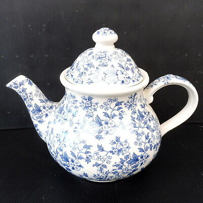 * Theiere Porcelaine Anglaise Teapot Ironstone Staffordsthire May Blossom