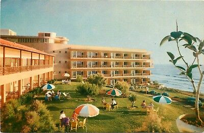 FMRA TEL-AVIV ISRAEL SHARON HOTEL HERZLIA ON SEA POSTCARD b716
