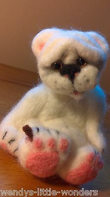 OOAK  Needlefelted Ouch Handmade  12cm Very Soft
