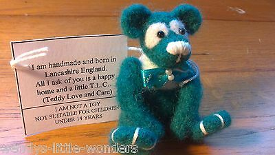 OOAK Needlefelted Little Mint Handmade By Janeal Designs 7cm Fully Jointed