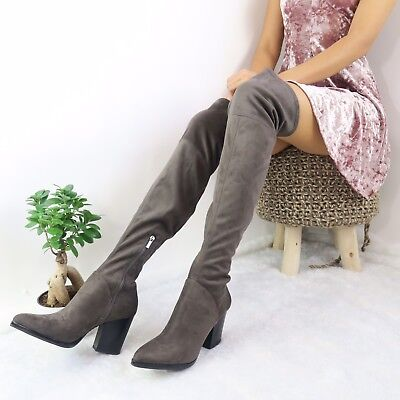 5b72166b145 Marc Fisher LTD NEW Women s Size 9M Suede Rossa Over the Knee Boot NWOB  229