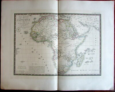 Africa w/ Mts. of the Moon 1834 Brue large old engraved continent map