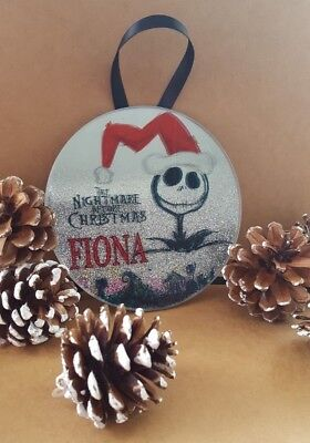 nightmare before christmas tree decorations elegant xmas source nightmare before christmas ombre mirror glass glitter disc xmas tree
