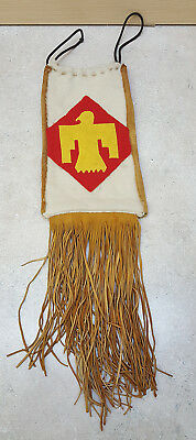 Hand Crafted Oklahoma National Guard Design Buckskin Native American Indian Bag