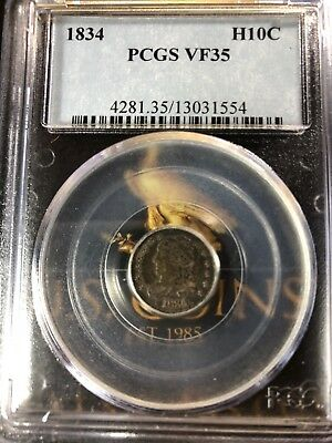 1834 Capped Bust Half Dime PCGS VF 35 Southerneagle