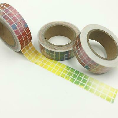 WASHI TAPE 15mm x 10m - Coloured wash mosaic