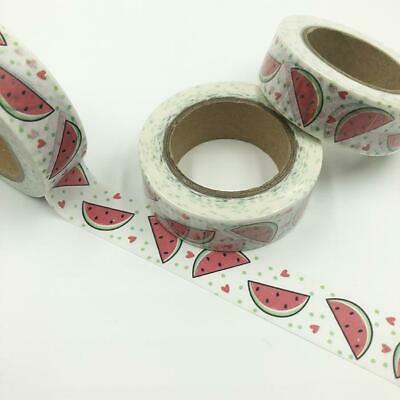 WASHI TAPE 15mm x 10m - Watermelon slices