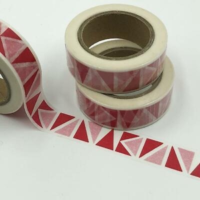 WASHI TAPE 15mm x 10m - Red pink traingles