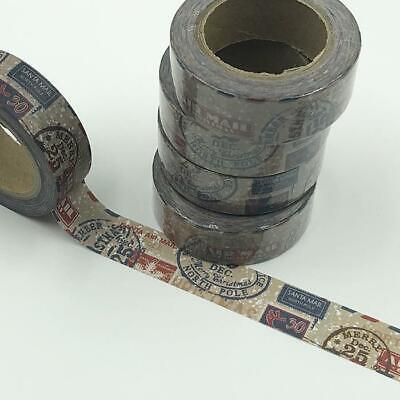 WASHI TAPE 15mm x 10m - Postage stamps