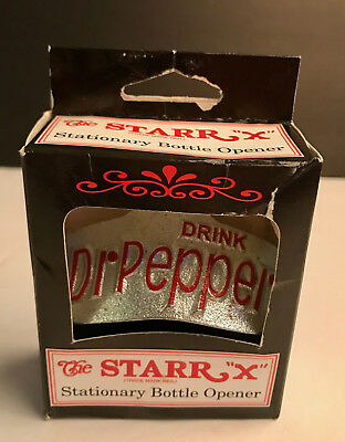 Vintage In The Box Dr Pepper Stationary Bottle Opener, The Star X, Unused!!