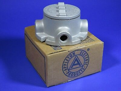 """Appleton GRFX50 1/2"""" threaded conduit iron outlet box explosion proof - 2 left"""