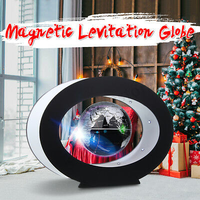 "3"" LED Magnetic Levitation Globe Floating World Map Desk Decor Christmas Gift AU"
