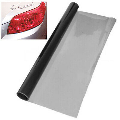 "12 x 48"" Deep Grey Tint Headlight Taillight Fog Light Vinyl Smoke Film Sheet"