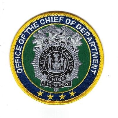 City of New York NY Police Dept. NYPD Office of the CHIEF patch - NEW! *Clothbak