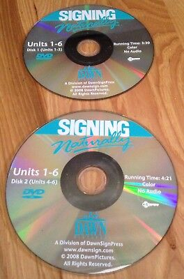 DVD's ONLY - Student Work Book: Signing Naturally : Student Workbook, Units 1-6