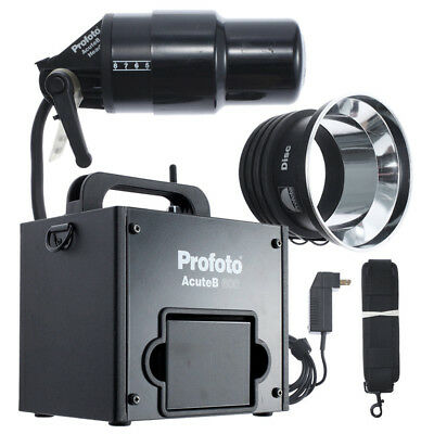 Profoto Acute B 600R 600 R Generator + Lamp Head +Battery Kit / Ex++ 90 Day Wrt