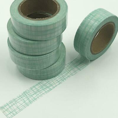 WASHI TAPE 15mm x 10m - Mint green lines